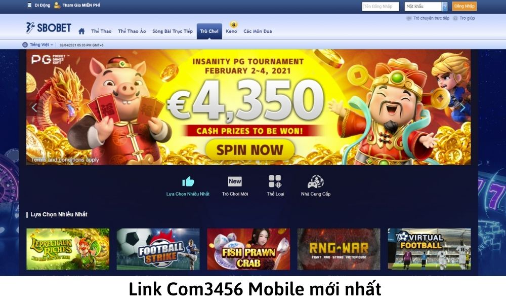 Link Com3456 Mobile mới nhất