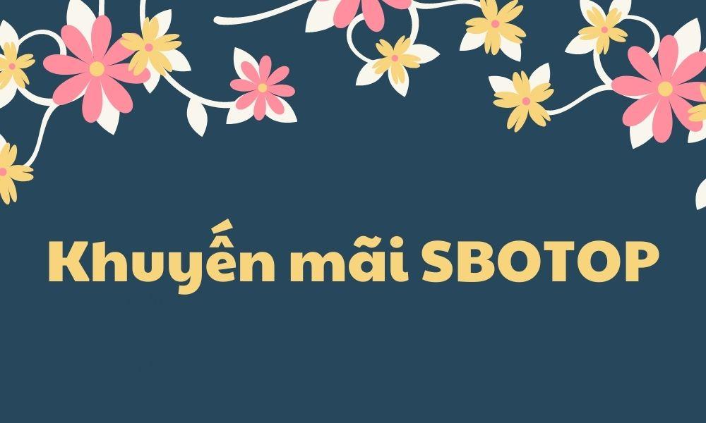 Khuyến mãi khi tham gia cá cược tại SBOTOP